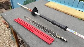 Hedge Trimmer - long each , engine, blades and pole only! Replacement or spares?