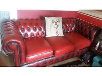 2×3seater chesterfield sofas& 1 club chair