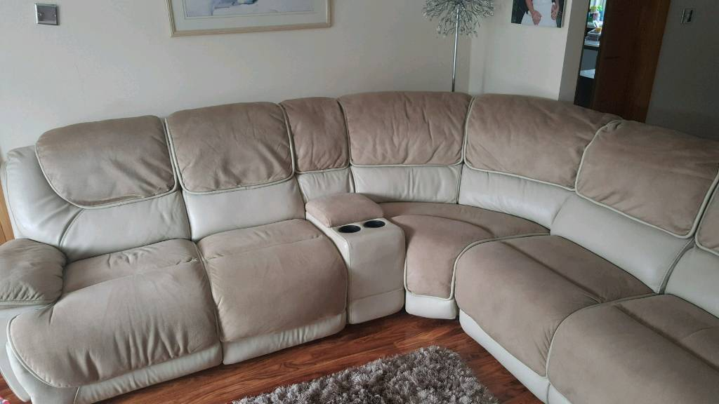Furniture Village Glasgow furniture village 6 piece corner sofa+ 2 seat recliner with