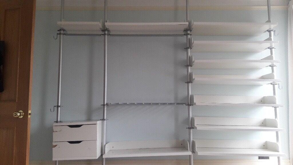 Ikea Stolmen Modular Wardrobe Storage Shelves Racking