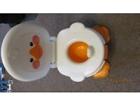 Fisher Price Duck Toilet Training Freestanding Kids Child's Potty