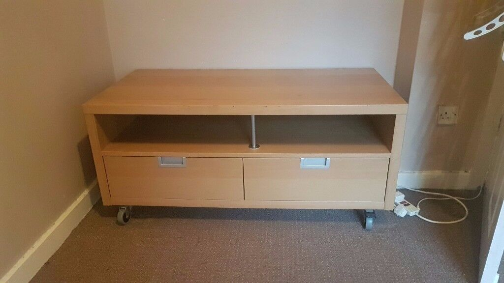IKEA TV CABINET STAND WITH STORAGE DRAWERS