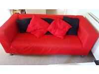 Stylish red IKEA KLIPPAN sofa