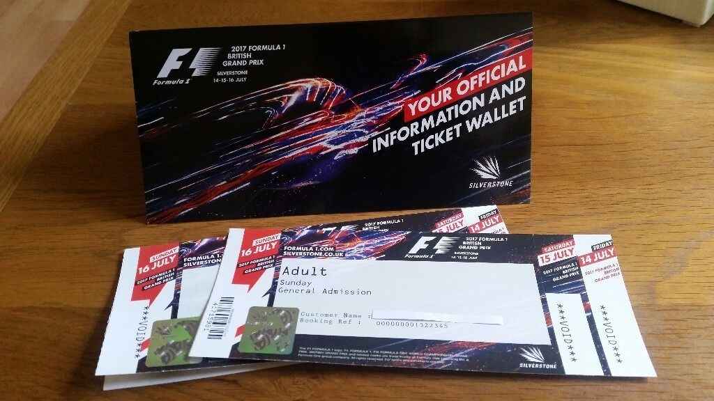 Two General Admission tickets for British Grand Prix F1 16 July Silverstone | in Milton Keynes ...