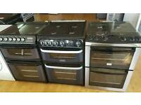 Gas cookers 60cm double oven fully refurbished