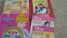 Books Snow White, Cinderella, Sleeping Beauty, Belle and Jasmine