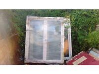 Large PVC windows.