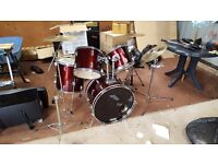 Drum kit for sale £40 o.n.o. Some small parts missing.