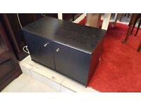 Small Black Coloured Storage or TV Unit in Good Condition