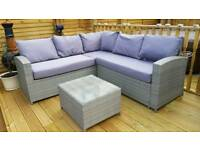 Brand New Garden Furniture Corner Set and Table.