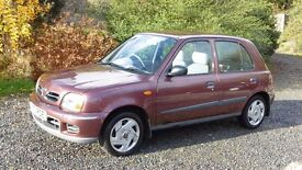 200 nissan micra, 5 door, only 112000 miles, last owner for 14 years, superb,12 mths MOT