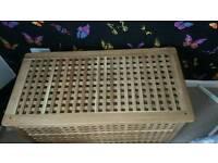 Ikea wood storage chest