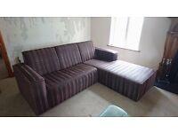 Brown L Shape Corner Sofa (Couch)