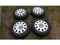 "15"" Wheels and Tyres Golf mk4 can fit VW Bora/jetta/audi a3/seat leon mk1."