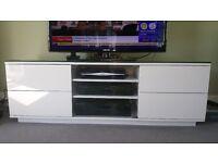 White Gloss TV/AV Stand