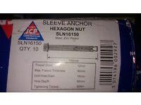 Sleeve anchor hexagon nut bolts