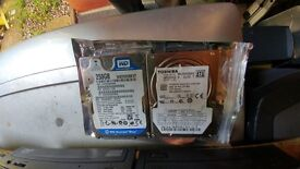 2x Laptop Hard Drives For Sale