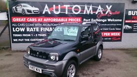 2007 SUZUKI JIMNY 1.3 VVT 3 DOOR 4X4 ESTATE IN BLACK AND GREY NEW MOT F/S/H 1/2 LEATHER CD ALLOYS +