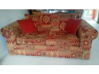 2 Large Sofas - 3 and 4 seaters, scatterback vgc