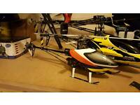 Align trex 250 6ch 3d rc helicopter in case with batteries