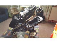 Britax b dual double buggy