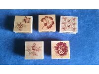 Rubber stamps job lot for card making/scrapbooking