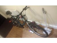 Raleigh bicycle - Green/blue colour, in good condition.
