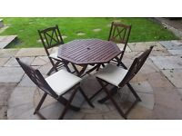 4 seater garden furniture set with parasol