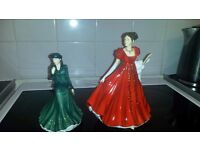 2 royal doulton ladies
