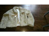 Lovely girls cream coat age 9-10