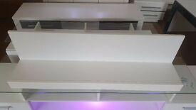 Modern Hanging Shelf Wall White Matt - Quality Living room & Bedroom Shelving Unit