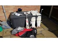 Youth cricket kit and accessories