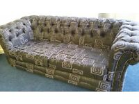 New 3 plus 2 seater Chesterfield sofas