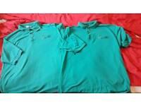 2 x Coleg y cymoedd polo shirts large