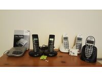 Various Home Phones and Answering Machine Bundle