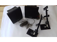 Toshiba Speakers SS-SR94 with swivel wall mounted brackets