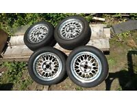 Genuine BBS Wheels from a mk1 MX5, Yokohama Semi slick tyres included - Great for track days