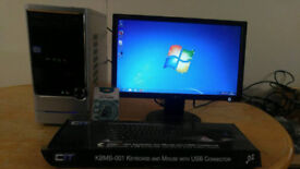 Asus I3 Home Business PC Desktop Computer PC Tower & LG 19 Widescreen LCD -Save £80