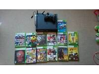 Xbox 360 120gb plus games and wireless adapter