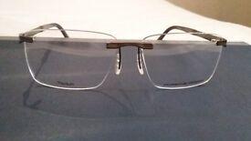 Porsche Rimless Glasses Frame. NEW