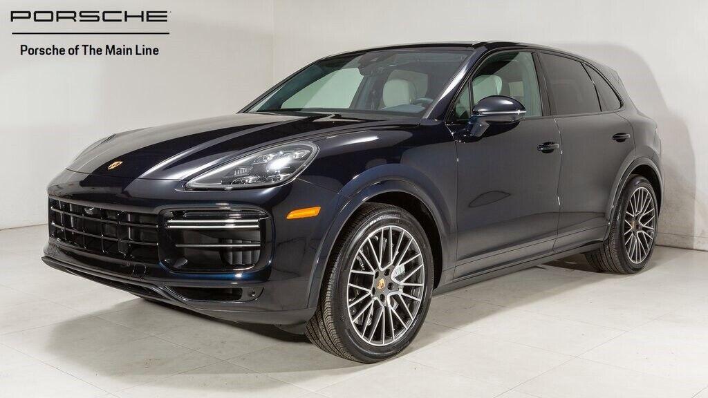 2020 Porsche Cayenne Turbo 6309 Miles Moonlight Blue Metallic 4D Sport Utility 4