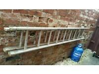 Metal Extending ladder 2 x 8ft lengths!bargain