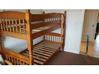 Full size pine bunk bed