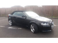 2009 AUDI A3 CABRIOLET 1.9 TDi BLACK,VERY LOW MILES,FSH,LOVELY CAR,PRIVATE PLATE,GREAT VALUE