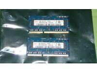 4GB (2x2GB) Laptop memory for PC & MAC