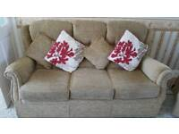 3 seater sofa & 2 fully reclining electric chairs