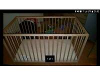 Ikea cot bed with mattress (if required)