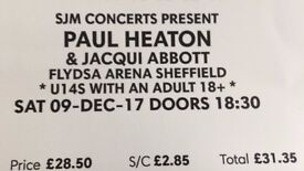 2 x Paul Heaton & Jackie Abbott tickets SAT 9th DEC SHEFFIELD £62 ONO