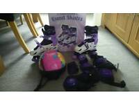 Roller boots and safety gear