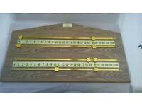 Snooker Score Board Brand New Oak/Brass